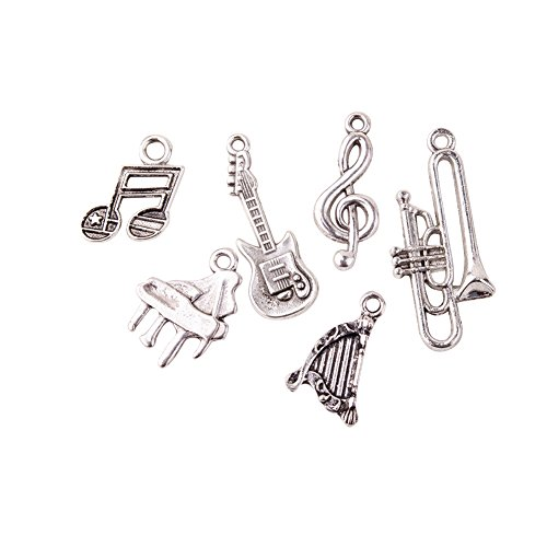 pandahall-5-sets6pcs-set-musical-instruments-antique-silver-tibetan-style-alloy-pendants-lead-free