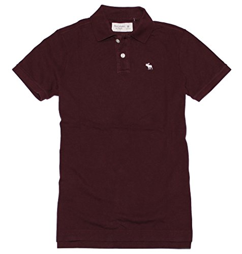 abercrombie-fitch-men-regular-fit-logo-polo-tee-m-burgundy