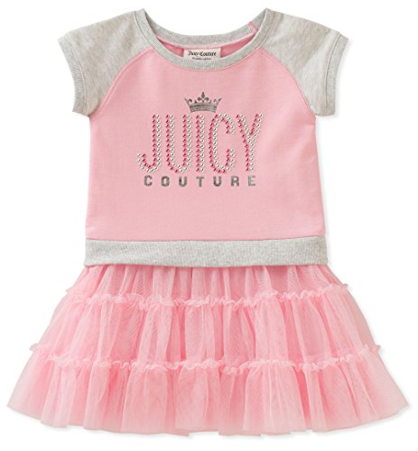 Juicy Couture Girls' Toddler Casual Dress, Pink/Gray -