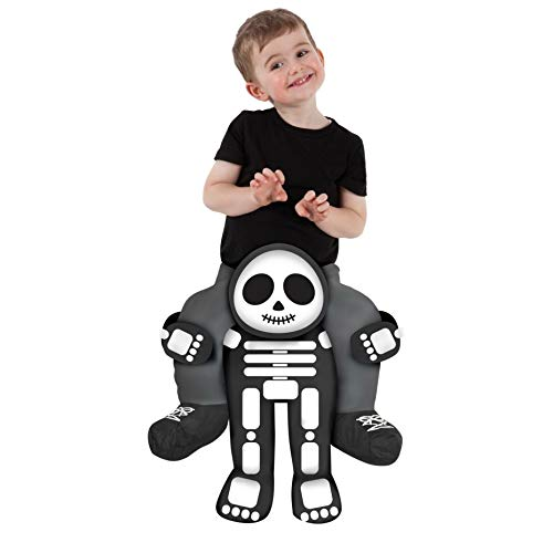 Toddler Piggyback Skeleton Costume Ride On Childs Illusion Carry Me Dress Up]()