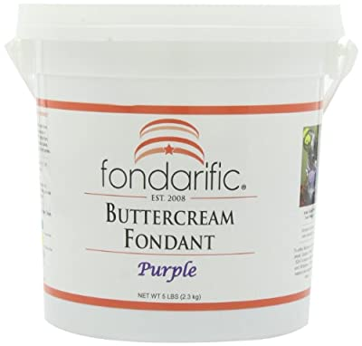 Fondarific Buttercream Purple Fondant, 5-Pounds