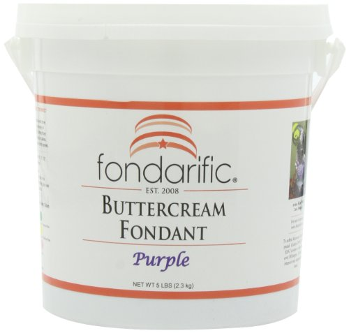 (Fondarific Buttercream Purple Fondant, 5-Pounds )
