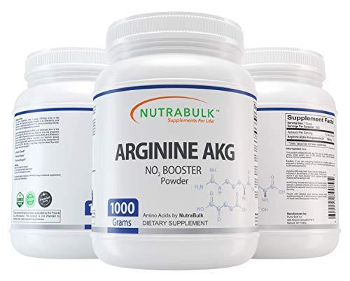 - NutraBulk Premium Arginine AKG (Alpha KetoGlutarate) Powder - 1,000 Grams.