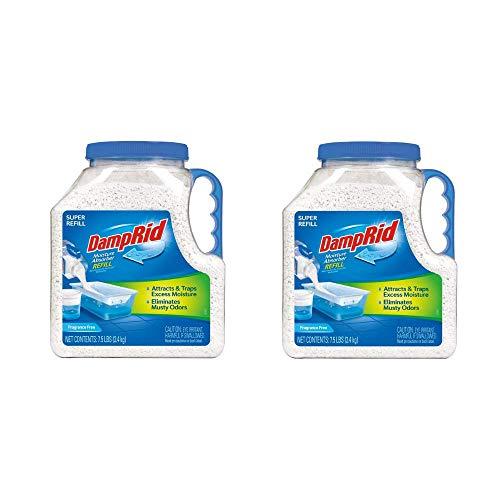 DampRid FG37 Moisture Absorber Refill, 7.5 lb, Fragrance Free (2-Pack (7.5 lb))