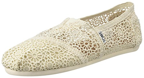 Alpargatas Moroccan Beige TOMS para ESP Mujer Moroccan Crochet Natural awtanf7q