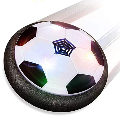 SLONG Football for Boys Toys, Hovering Football Disk Toys with LED Lights and Foam Bumpers Indoor Outdoor Games for 3 4 5 6 7 8 11 Year Old Boys and Girls