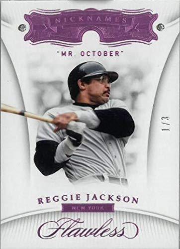 (Reggie Jackson New York Yankees Mr. October 2018 Panini Flawless Nicknames Dual Diamond Baseball Card #79- LTD 1/3 - Panini)