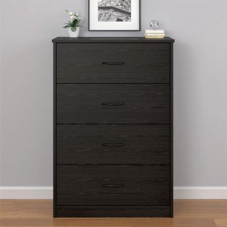 Mainstays 4-Drawer Black Oak