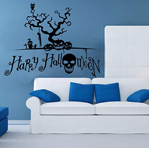 Pbldb Black Halloween Wall Stickers Hangman Skull Head