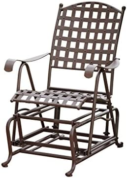 Santa Fe International Caravan Iron Patio Glider, Rustic Brown