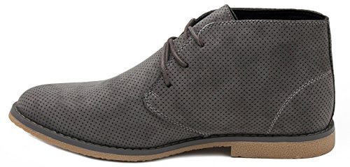 London Fog Mens Broadstreet Chukka Boot Grey Perf