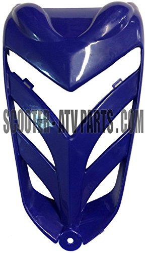 Front Fender Nose (Front Grill Nose Panel for Kazuma Falcon ATVs -- Blue)