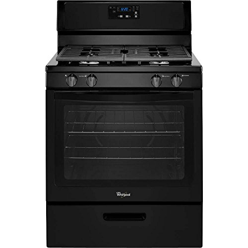 "Price comparison product image WHIRLPOOL GIDDS-110952 30"" 5.1 cu. ft. Single Oven Free-Standing Gas Range, Black"
