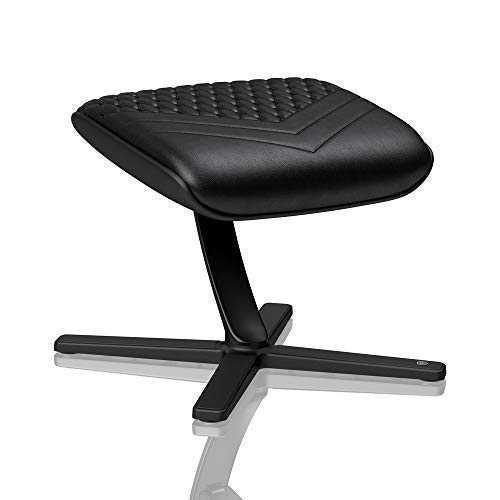 noblechairs Footrest for Gaming Chair – Office Chair – Real Leather – Footrest – Practical Adjustment – 360 Rotatable – 57 Tiltable – Black