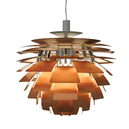 European Version Aluminum PH artichoke Pendant Lamp with white and copper color ()
