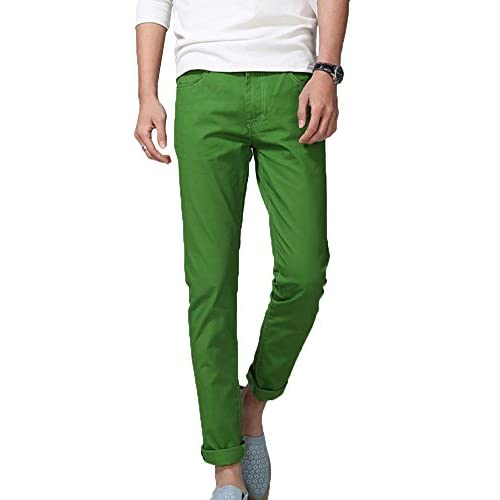 Krralinlin Men's Slim Fit Stretch Colored Skinny Jeans Casual ...