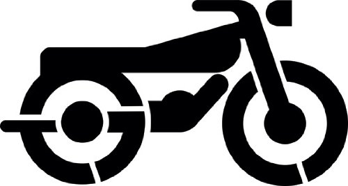 Motorcycle Parking Symbol Stencil | Parking Lot Stencils | 24 inch | Paint Stencil for Pavement and Wall Signs