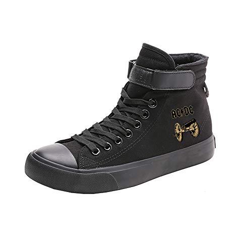 Transpirables Cordones Acdc Alta Puros Zapatos Casual Colores Black05 Canvas De Ayuda Popular Estudiantes Con B0SwBq7vZ