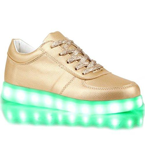 (Present:kleines Handtuch)JUNGLEST® 7 Farbe USB Aufladen LED Leuchtend Sport Schuhe Sportschuhe Sneaker Turnschuhe für Unisex-Erwa c35