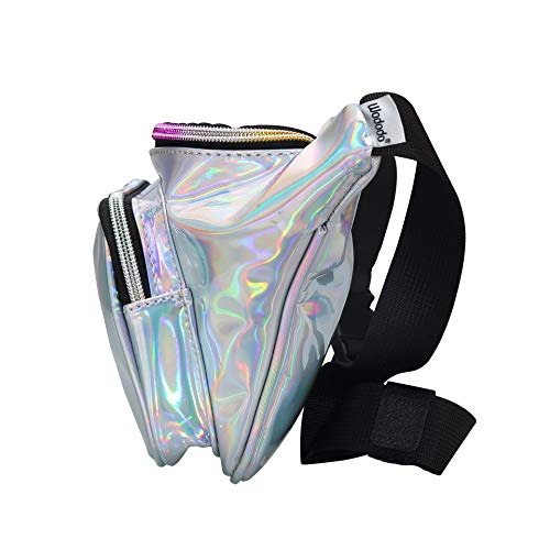 9b9d5dbc4479 Shiny Neon Fanny Bag for Women Rave Festival Hologram Bum Travel Waist Pack  (Silver)