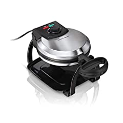 Enjoy delicious fluffy Belgian waffles with the Hamilton Beach Belgian Style Flip Waffle Maker. Made with easy to clean nonstick grids to bake the perfect waffle with deep pockets to hold butter and syrup. The indicator lights let you know just when ...