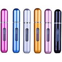 Botellas atomizadoras de perfumes de 6 piezas, Botella recargable con atomizador de perfume de viaje Botella de atomizador mini fragancia portátil para viajes o salidas nocturnas Fragancia 8ml