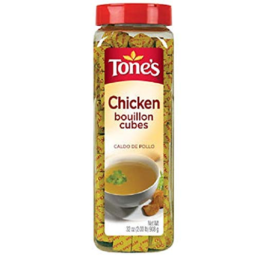 Green Bouillon Cup - Tone's Bouillon Cubes, Chicken, 32 Ounce (Pack of 3)