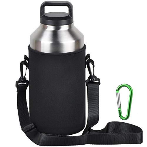 EEEKit Water Bottle Sleeve for 64oz YETI Rambler Ozark Rtic Stainless Steel Bottle(64oz),Hydro Flask 64 oz, Neoprene Tumbler Travel Holder Bag with Removable Shoulder Strap ()