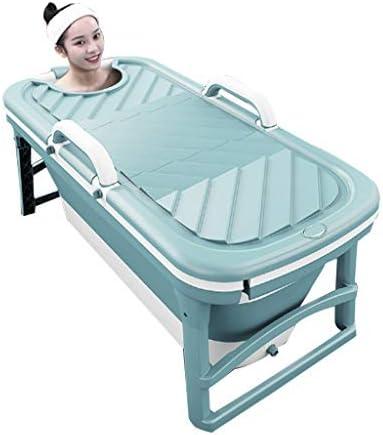 浴槽大人用大型浴槽全身浴槽家庭用折りたたみ式浴槽大人の子供厚めの浴槽大人の浴槽 浴室用設備 (Color : Green, Size : 125*38*54cm)