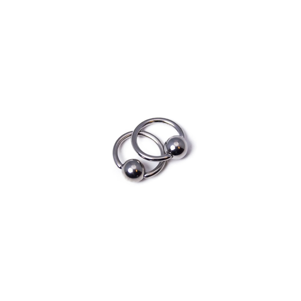 BodyJewelryOnline Micro-Sized Captive Bead Ring 18ga-9/32(7mm) - Made of 316L Sugical Steel - Sold as Pair