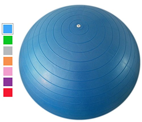 Acefit Anti-burst-and-slip Resistant Fitness Balance Exercise and Stability Ball with Pump Yoga Ball - Office Starwood