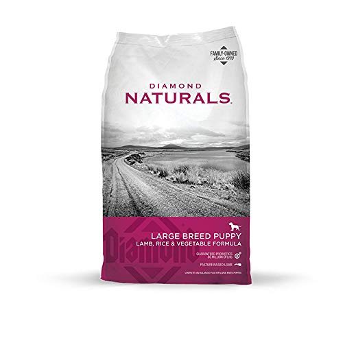 Diamond Naturals Large Breed Puppy Real Meat Recipe Natural Dry Dog Food with Real Pasture Raised Lamb 20lb