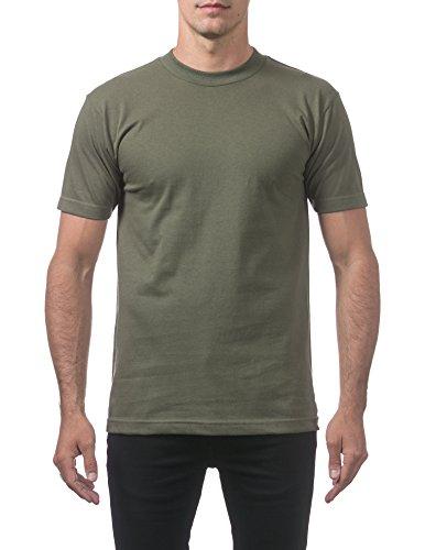 Pro Club Men's Comfort Cotton Short Sleeve T-Shirt, Olive, X-Large (Pro Club T Shirts Xxl)
