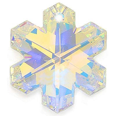 SWAROVSKI ELEMENTS Crystal Snowflake Pendant #6704 30mm Crystal AB (Ab Snowflake Pendant)