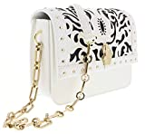 Roberto Cavalli HXLPHA 010 White Shoulder Bag for Womens