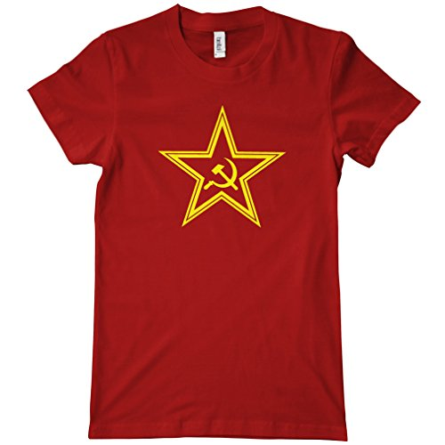 Smash Vintage Women's USSR Soviet Star T-shirt - Dark Red, XX-Large - Soviet Star Ussr T-shirt