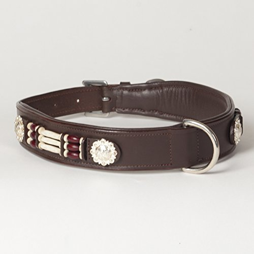 (X-Large Genuine Leather Padded Beaded Decorated