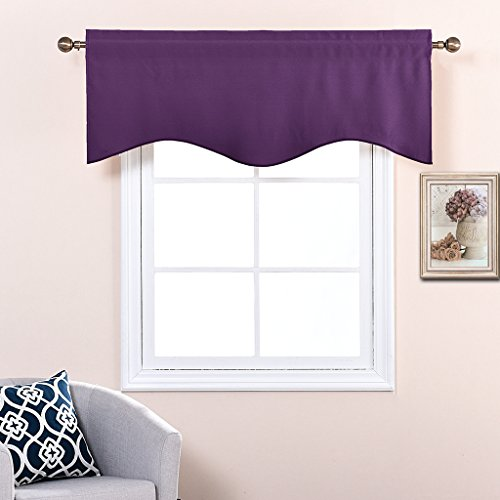 Nicetown Blackout 52 Inch By 18 Inch Scalloped Valance