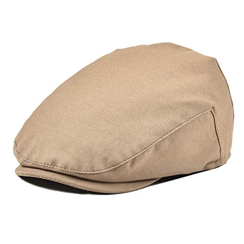 JANGOUL Baby Boy's Cotton Hat Driver Page Boy Cap Fully Lined Newsboy Cap Khaki