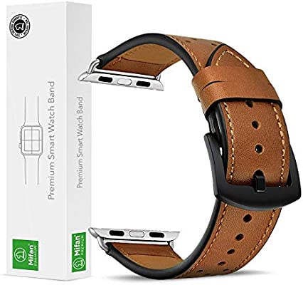 029cafde751f6d Mifan Official Genuine Leather Band for Apple Watch 44mm/42mm Series 1/2/