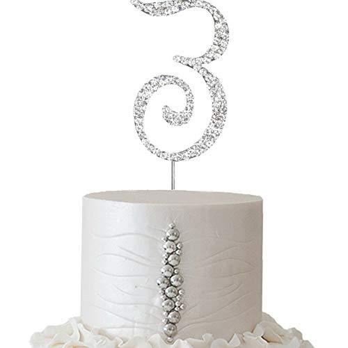 Mikash 2.5 Tall Rhinestone Cake Topper Wedding Party Decorations Supplies on Sale | Model WDDNGDCRTN - 5601 | ()