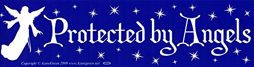 Protected By Angels - Bumper Sticker / Decal (11.5