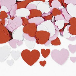FUN EXPRESS FOAM HEARTS 400 PIECES - ASSORTED