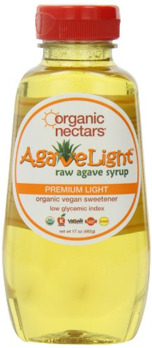 Organic Nectars Agave Syrup, Premium Light, 17-Ounce Bottles (Pack of ()