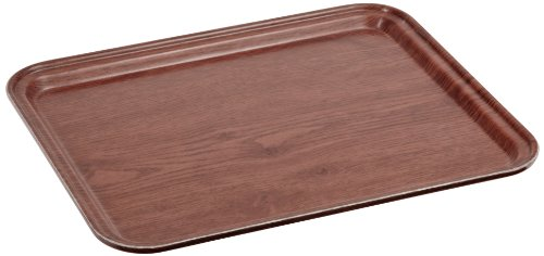 Woodgrain Fiberglass Tray - Carlisle 1212WFG062 Fiberglass Glasteel Wood Grain Metric Tray, 12.80