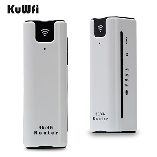 Portable Wireless 3g Router - KuWFi Smart Moblie WIFI hotspot 3G router with sim card slot with Power Bank 2200Mah Portable WiFi 3G Wireless Router Support 2100MHZ network Power bank 3G wifi Router with SIM Card Sot