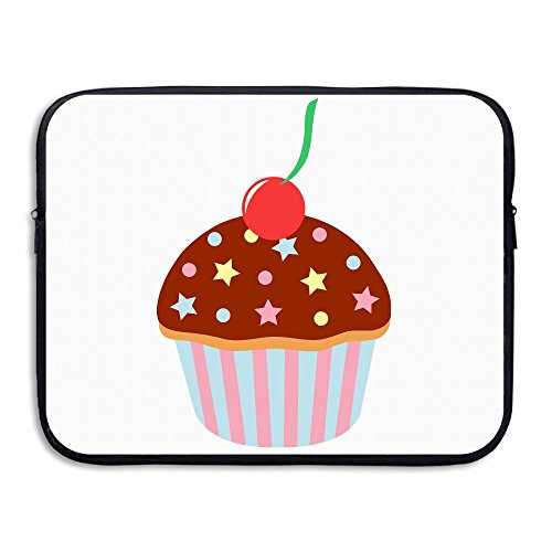 Reteone Laptop Sleeve Bag Cute Birthday Cupcake Clip Art Cover Computer Liner Package Protective Case Waterproof Computer Portable -