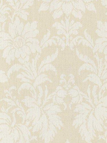 Wallpaper Designer Jacobean Damask Tone On Ivory Cream