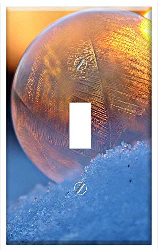 Switch Plate Single Toggle - Soap Bubble Ice Crystal Ice-Bag Frost Globe