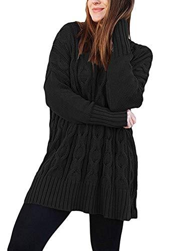 Neck Giovane Elegante Manica Felpe Lunga Moda Autunno Schwarz Giacca Casual Comodo Pullover Monocromo Invernali Donna Pullover Spacco Moda A V Maglieria Maglia tv6vzx